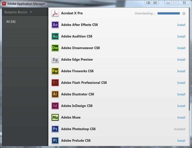 Adobe Creative Cloud Adobe Application Manager